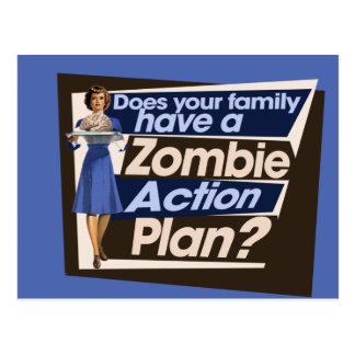 Hace a su familia tienen un plan de actuación del tarjeta postal