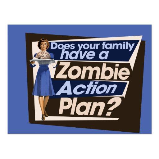 Hace a su familia tienen un plan de actuación del  postales