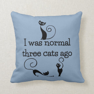 Hace almohada de tiro divertida de tres gatos cojín decorativo