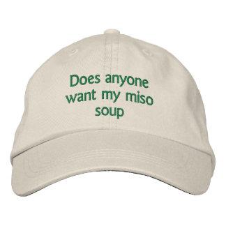 hace cualquier persona quieren mi sopa de miso gorra de beisbol
