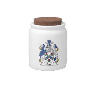 Hace frente el escudo de la familia jarra para caramelo