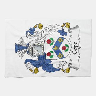 Hace frente el escudo de la familia toallas de cocina