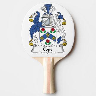 Hace frente el escudo de la familia pala de tenis de mesa