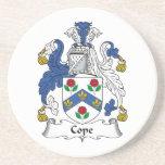 Hace frente el escudo de la familia posavasos personalizados