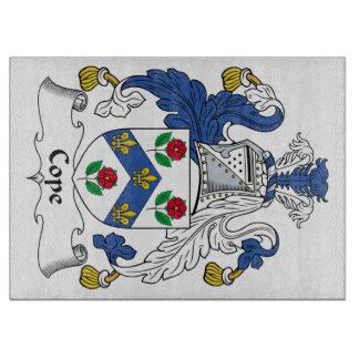 Hace frente el escudo de la familia tabla para cortar