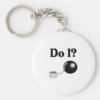 Hace I (bola y la cadena) Llaveros Personalizados