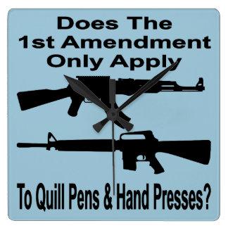 Hace la 1ra enmienda se aplican solamente a las relojes