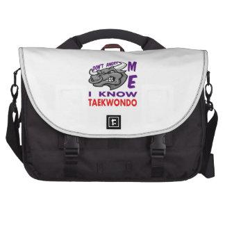 Hace no enojado, yo conoce el Taekwondo Bolsas Para Ordenador