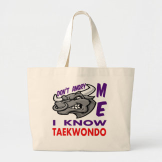 Hace no enojado, yo conoce el Taekwondo Bolsa Tela Grande