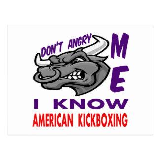 Hace no enojado, yo sabe kickboxing. americano postal