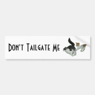 Hace no la puerta posterior yo los gatos que persi pegatina para auto