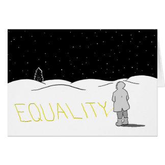 Hace pis el cambio que usted quiere ver: Igualdad Tarjeta De Felicitación