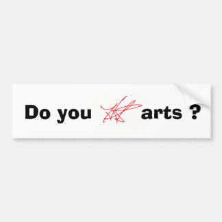 ¿Hace usted H.A.S. Arts? bumpersticker Pegatina Para Auto