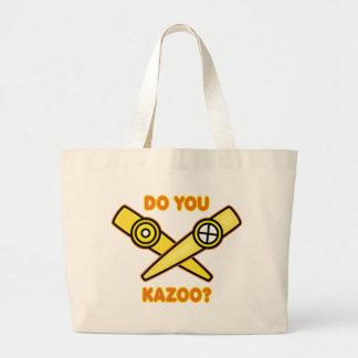¿Hace usted Kazoo? Bolsa Tela Grande