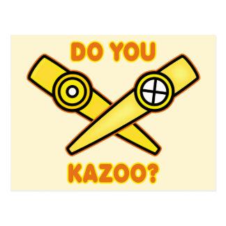¿Hace usted Kazoo? Postal