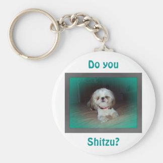 ¿Hace usted Shitzu? Llavero Redondo Tipo Pin