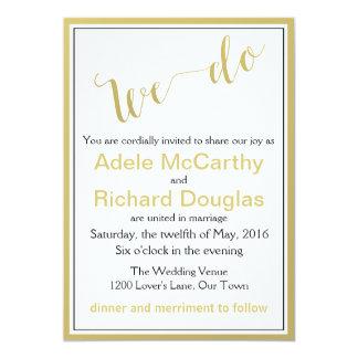 """Hacemos el boda elegante moderno invitación 5"""" x 7"""""""