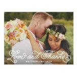 Hacemos el | que se casan le agradecemos postal
