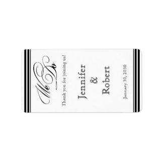 Hacemos la etiqueta blanco y negro del protector etiqueta de dirección