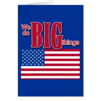 Hacemos las cosas grandes camiseta, botón, product tarjetas