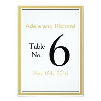 """Hacemos número elegante moderno de la tabla del invitación 4.5"""" x 6.25"""""""