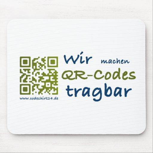 hacemos qr-códigos portátil tapete de ratones