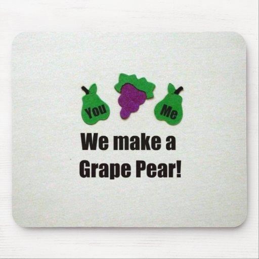 ¡Hacemos una pera de uva! Tapete De Ratones