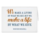 Hacemos una vida por lo que damos a tarjeta