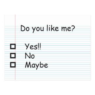 ¿Hacen usted tienen gusto de mí? Postales