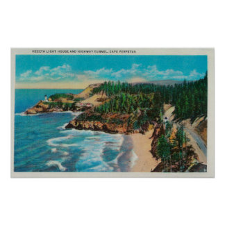 Hacenta Head Lighthouse and Cape PerpetuaCoast Posters