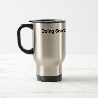 Hacer ciencia taza de viaje de acero inoxidable