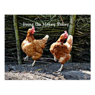 Hacer el Pokey de Hokey, los pollos del Pokey de Tarjetas Postales
