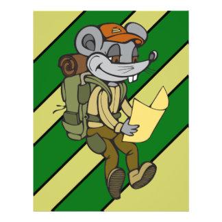 """Hacer excursionismo el ratón folleto 8.5"""" x 11"""""""
