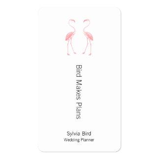 Hacer frente a flamencos tarjetas de visita