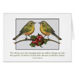 Hacer frente de dos el pequeño pájaros: Acebo, ami Tarjeta