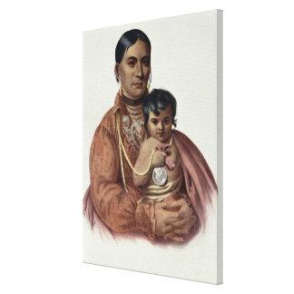 Hacer-Hon-Va, una mujer de Osage Impresiones En Lona
