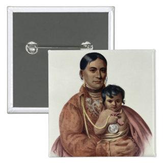 Hacer-Hon-Va, una mujer de Osage Pin Cuadrado