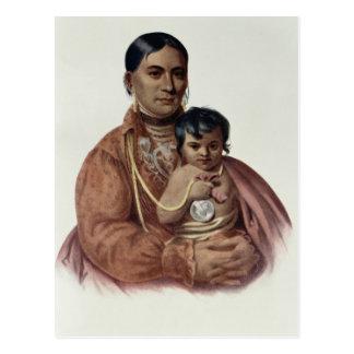Hacer-Hon-Va, una mujer de Osage Postales