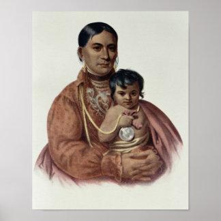Hacer-Hon-Va, una mujer de Osage Póster