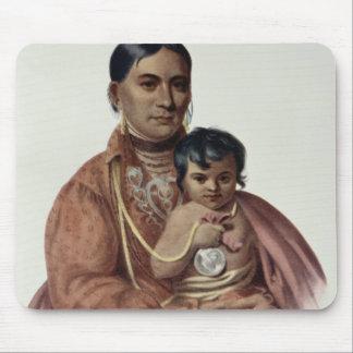 Hacer-Hon-Va, una mujer de Osage Tapete De Ratón