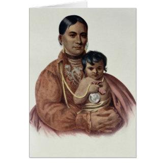 Hacer-Hon-Va, una mujer de Osage Tarjeta De Felicitación