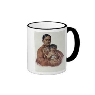 Hacer-Hon-Va, una mujer de Osage Taza De Dos Colores
