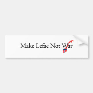 Hacer-Lefse-No-Guerra Etiqueta De Parachoque