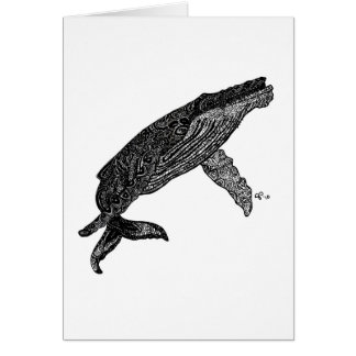 Hacer mismo la ballena tarjeta pequeña
