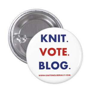 Hacer punto liberalmente el botón pin redondo de 1 pulgada