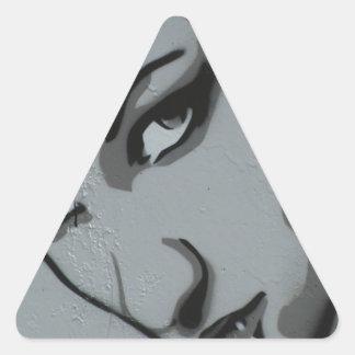 Hacerle frente pegatina triangular