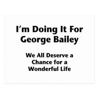 Hacerlo para George Bailey -- Ocupe Wall Street Postales