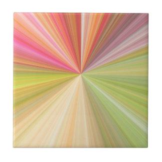 Haces abstractos azulejo cuadrado pequeño