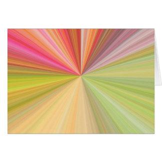 Haces abstractos tarjeta de felicitación