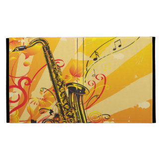 Haces chillones del saxofón de la música